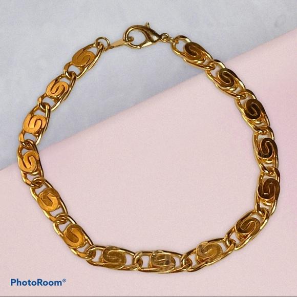 Vintage gold Monet link bracelet